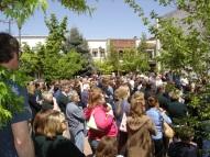 Large crowd at Vogel Plaza